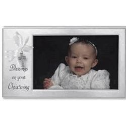 Baby Christening Frame with Cross Dangle