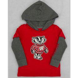 Toddler's Bucky Badger Rail Hooded T-Shirt