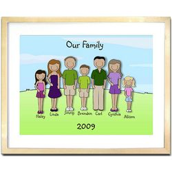 Family Portrait 12 x 16 Framed Print