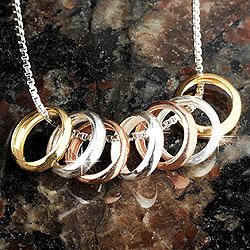 Lucky Seven Rings Necklace Findgift Com
