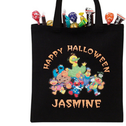 Personalized Sesame Street Halloween Treat Bag