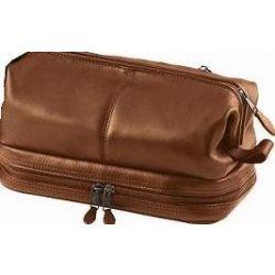 Mens Waterproof Leather Toiletry Bag