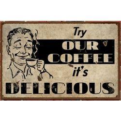 Vintage Delicious Coffee Sign
