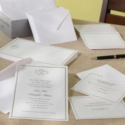 Platinum Hearts DIY Wedding Invitation