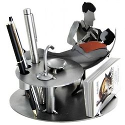 Male Dentist Business Card and Pen Holder