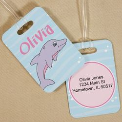 Personalized Dolphin Luggage Tag