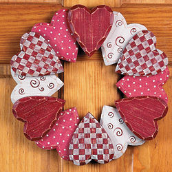 Wood Heart Wreath