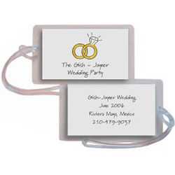 Personalized Wedding Rings Luggage Tags