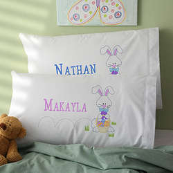 Personalized Easter Bunny Pillowcase