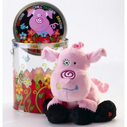 Doinkie the Pig Plush Bucket Friend
