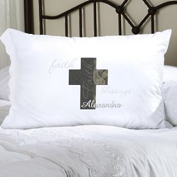 Personalized Paisley Faith Pillow Case