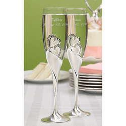 Sparkling Love Champagne Flutes