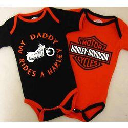 Harley Davidson Daddy Rides Infant Creeper Set