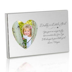 Daddy's Little Girl Silver Heart Picture Frame