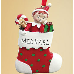 Personalized Elf on the Shelf Ornament