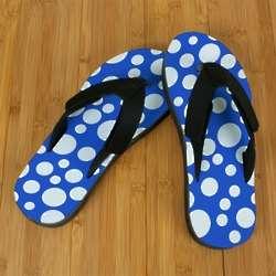 Blue Polka Dot Pro Fit Sandals
