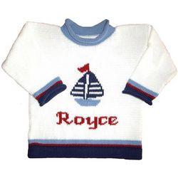 Nautical Sailboat Personalized Sweater