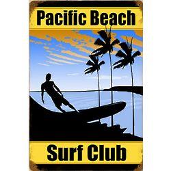 Pacific Beach Club Metal Sign