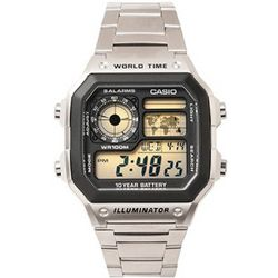 Dual Time Zone Silver Watch