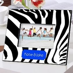 Personalized Zebra Print Picture Frame