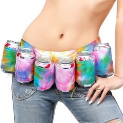 Tye Dye 6-Pack Beer Belt Holster