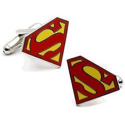 Superman Logo Cuff Links