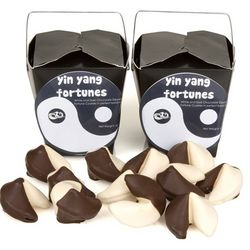 Yin and Yang Hand-Dipped Gourmet Fortune Cookie Gift Box