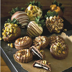 Nut Lover's Chocolate Covered Strawberries and Cookies