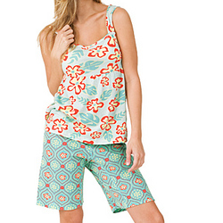 Hawaiian Floral Short Set