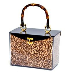 Burnt Bamboo Handle Handbag