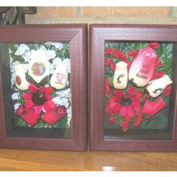 Personalized Wooden Rose Shadow Box