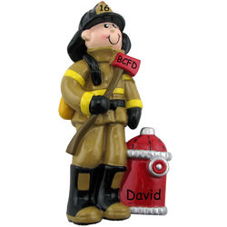 Axe and Hydrant Firefighter Christmas Ornament