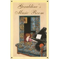 Personalized Vintage Music Room Sign