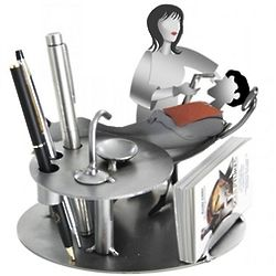 Female Dentist Business Card Holder