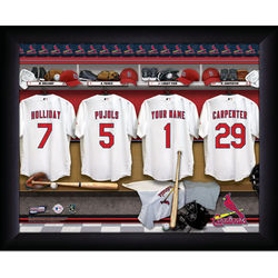 Personalized St. Louis Cardinals MLB Locker Room Print