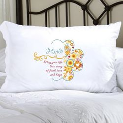 Personalized Sunny Flowers Pillow Case