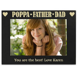 Best Dad Personalized Picture Frame
