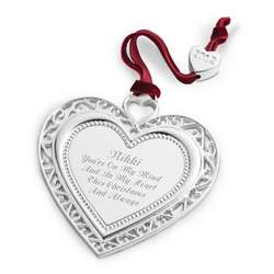 2012 Heirloom Heart Christmas Ornament