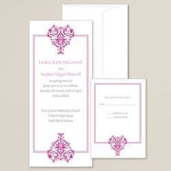Vintage Hearts Wedding Invitations