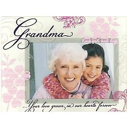 Grandma Floral Glass Picture Frame