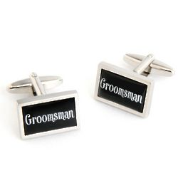 Dashing Groomsman Cufflinks with Personalized Case