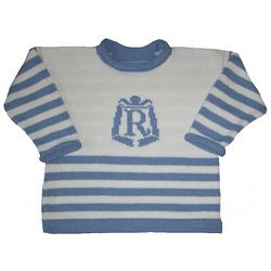 Baby's Nautical Sweater with Personalized Crest