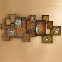 Three Dimensional Leaves Ada Wall Art Panel
