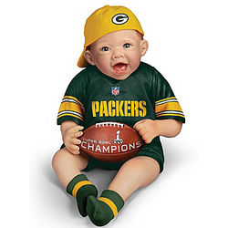 Green Bay Packers Super Bowl Champions Commemorative Baby Doll