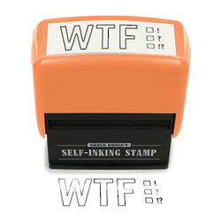 WTF Self-Inking Stamper