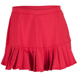 Pleated Knit Tennis Skort in Crimson