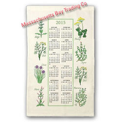 2015 Kitchen Herbs Calendar Towel
