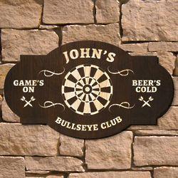 Bullseye Custom Bar Sign