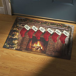 Personalized Christmas Stocking Doormat