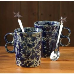 Stoneware His & Her Mug Gift Set